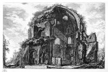 Piranesi - View of the Temple of Minerva Medica, 1748-1774